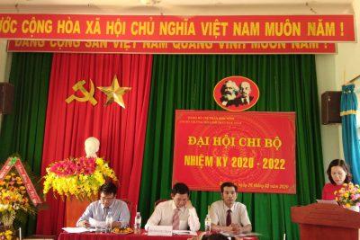 ĐẠI HỘI CHI BỘ NHIỆM KÌ 2020-2022